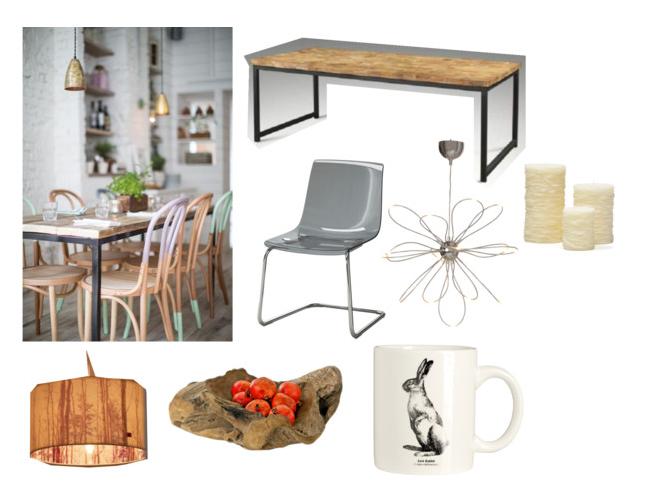 inspiratie, interieur, eetkamer, dining room, warm, hout, modern, loft ...