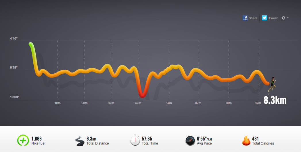 waarom geen cardio, pace, tempo, run, nike, plus, app, running, hardlopen, resultaat