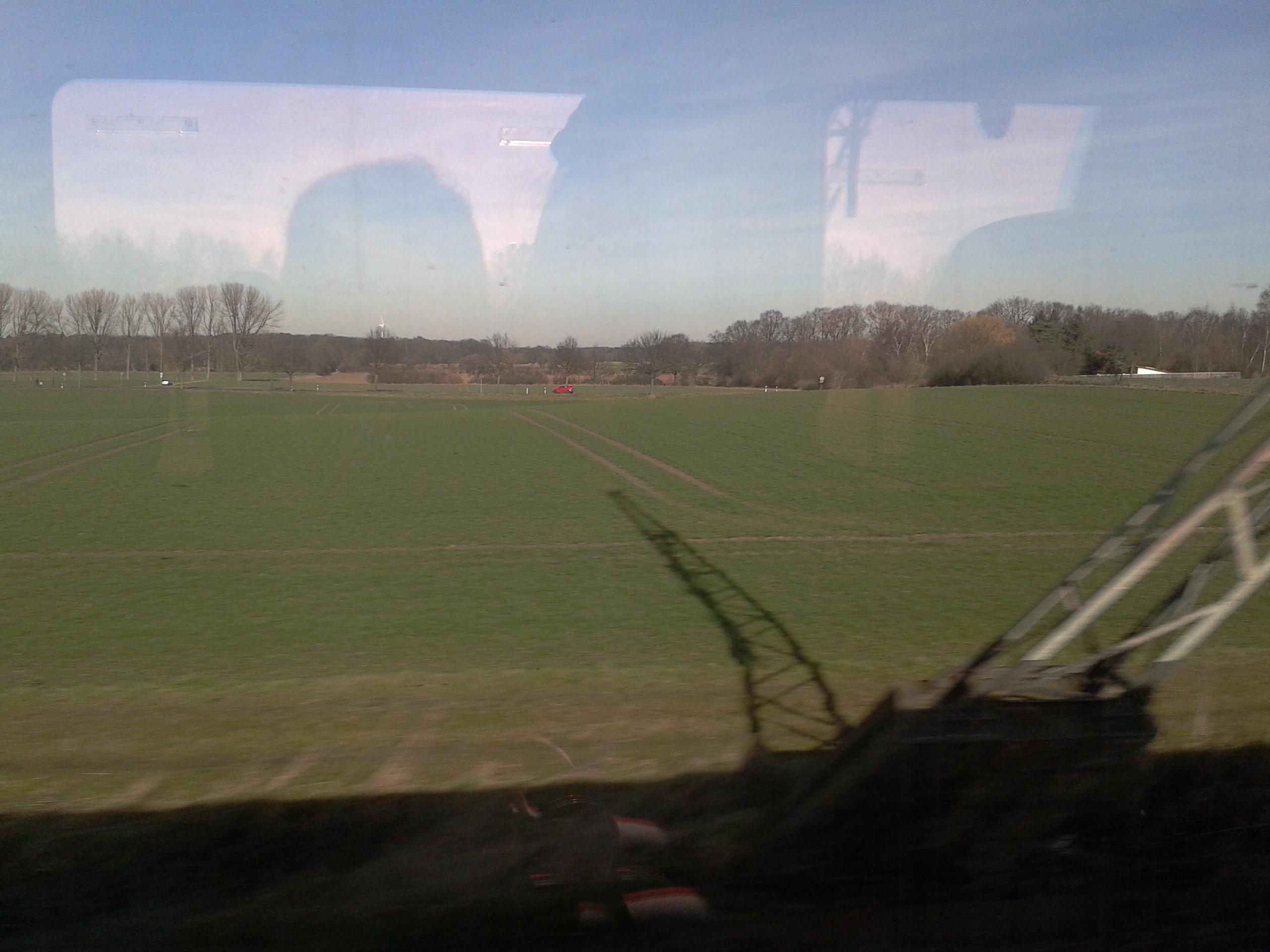 duitsland, trein, zon