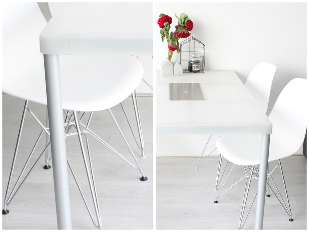 Witte leren eettafel stoelen eetkamerstoelen eetstoelen zitmaxx wonen leren banken l ruim - Eettafel en houten eetkamer ...