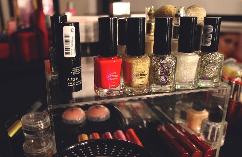 nagellak hema, hema kerst, hema kerstevent, hema persevent, nagellak, makeup, kerst makeup, hema kerstmakeup