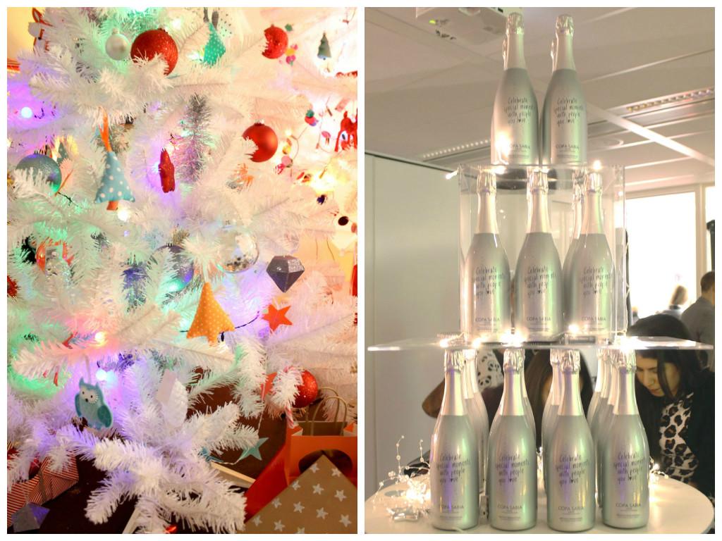 hema kerstboom, witte kerstboom, gekleurde kerstboom, bonte kerstboom, christmas tree, toren van champagne, hema champagne, cava, zilveren fles, hema persevent, hema kerstevent, persevent, hema