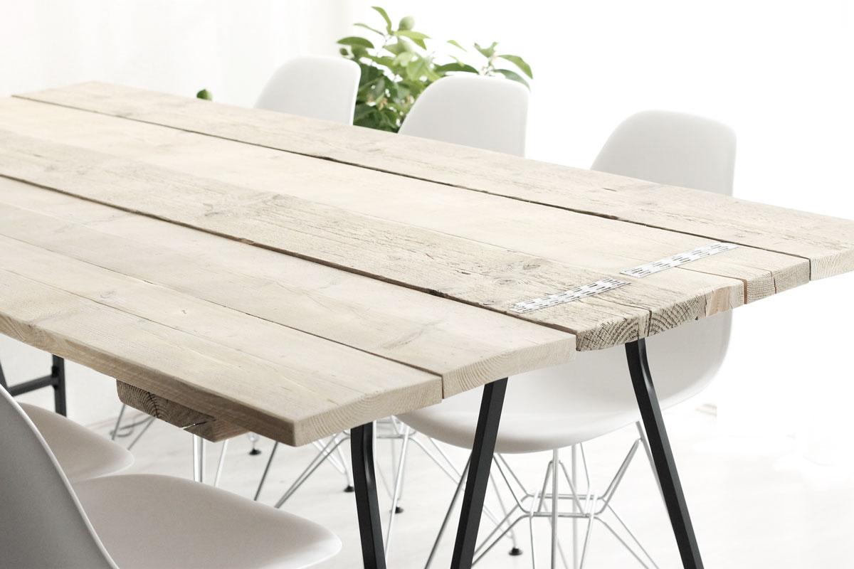 Steigerhouten Tafel Maken : Eindelijk een echte eettafel without elephantswithout elephants