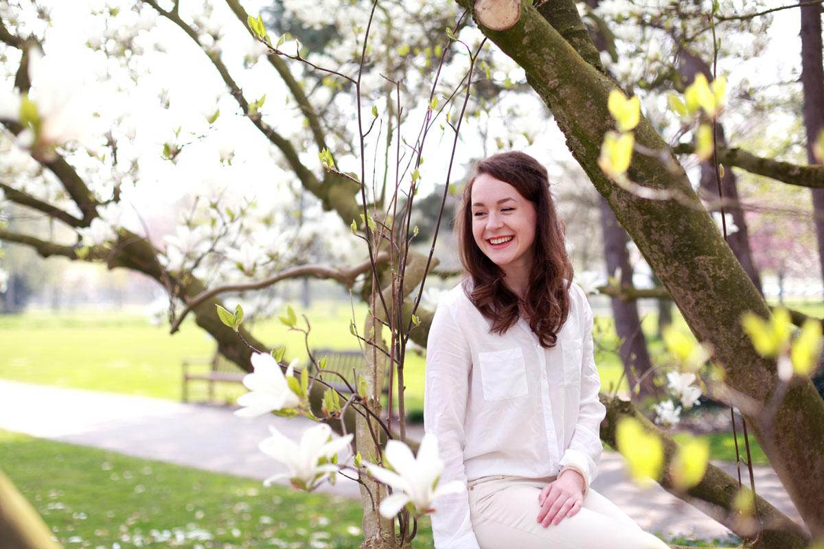 tulpenboom, duitsland, natuur, bloesem, fotoshoot, lente, zomer, voorjaar, Without Elephants, Céline, Sina Buscher