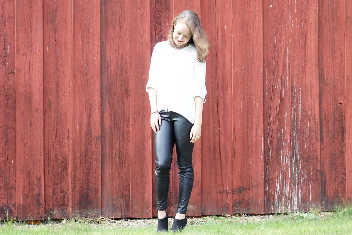 outfit leather pants, happiness boutique, inspirational