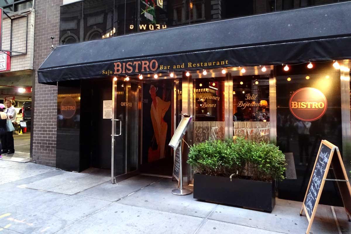 bistro broadway new york, restaurants dichtbij broadway, waar eten voor broadway show, tips restaurants new york, broadway, lekker eten