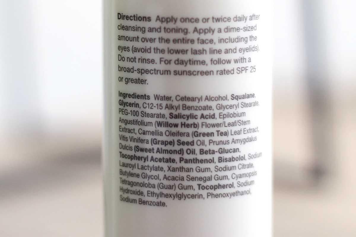 paulas choice skin perfecting 2% BHA review, skin perfecting BHA ingredienten, paulas choice bha ingredients