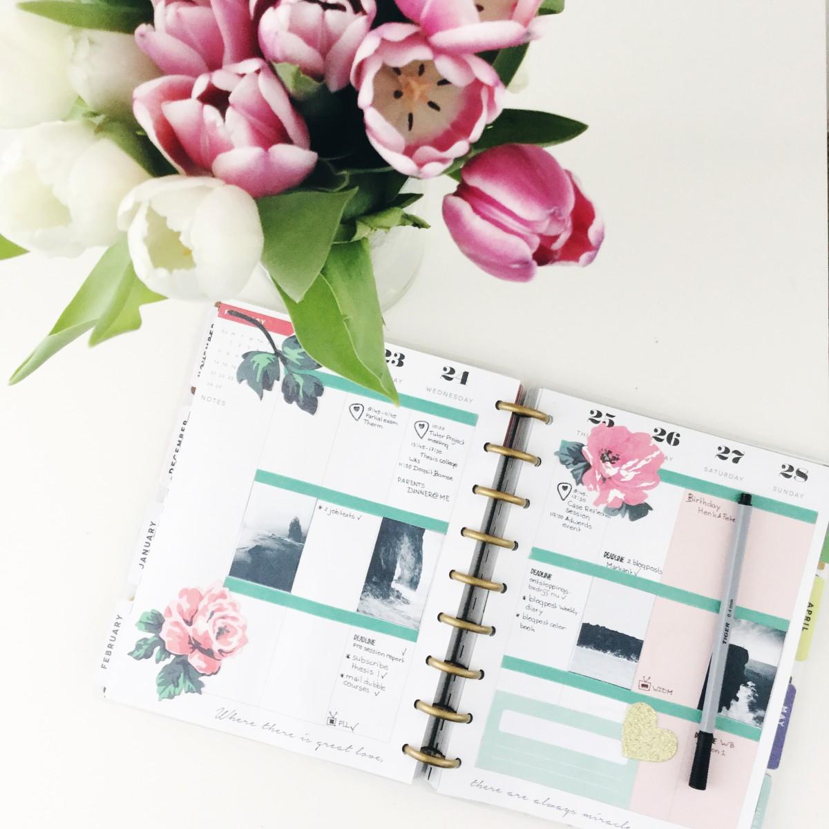 happy planner maart, planner decorating, planner decoreren nederland, versieren, inspiratie, maggie holmes