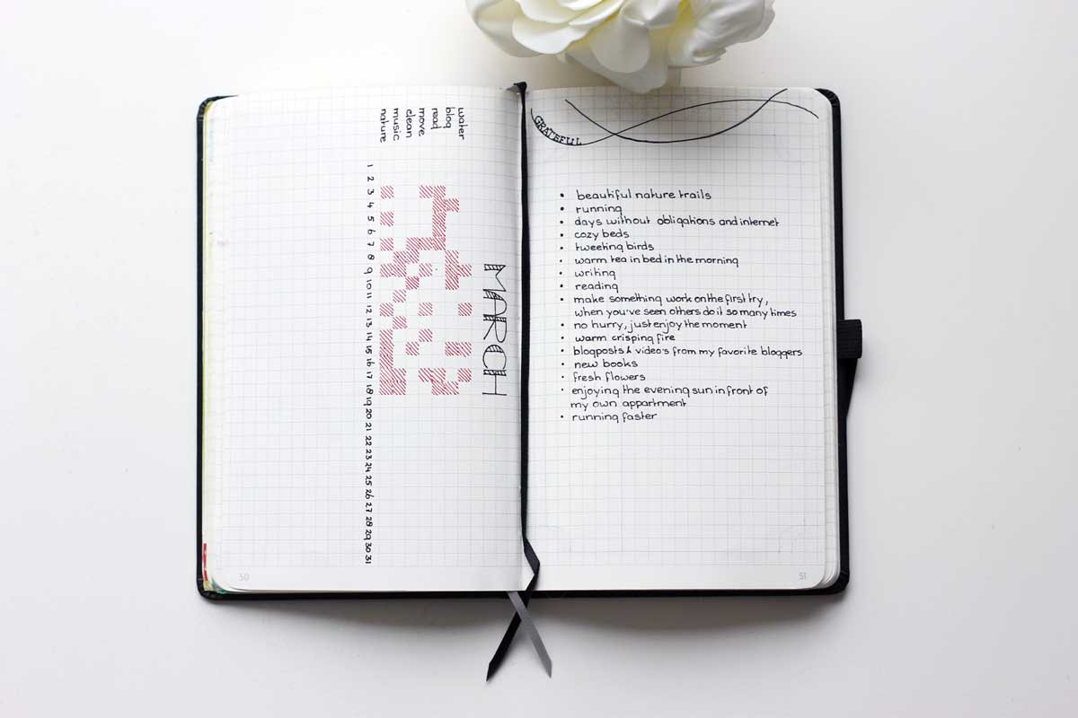 minimalistic bullet journal, minimalism, minimalisme, minimalistische bullet journal