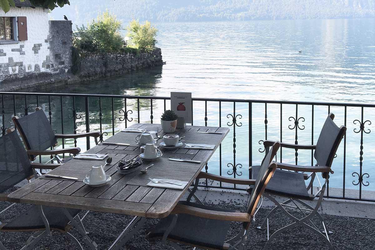 buiten ontbijten, zwitserland, weggis, luxe