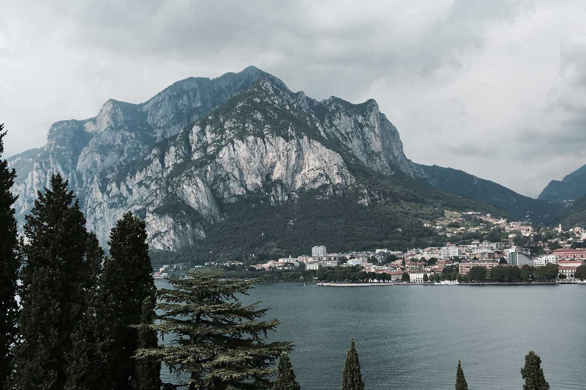 lecco malgrate uitzicht italy