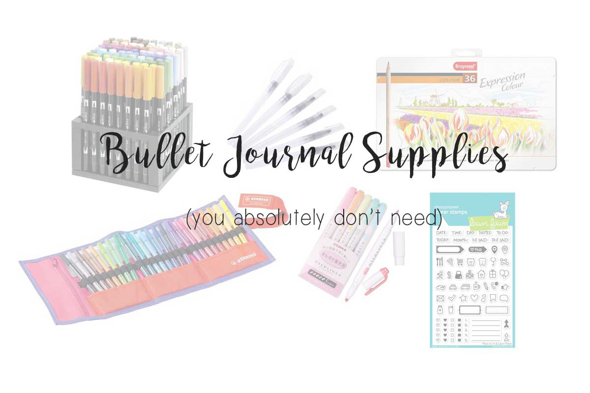 bullet journal supplies you really need, welke spullen heb je nodig Bullet Journal Nederland, blogposts