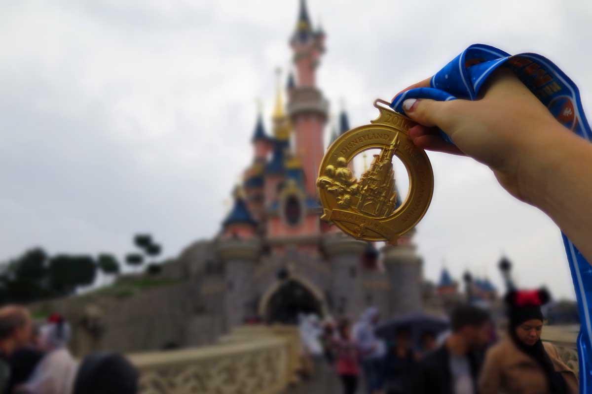 rundisney parijs medaille 2016, halve marathon ervaring blog