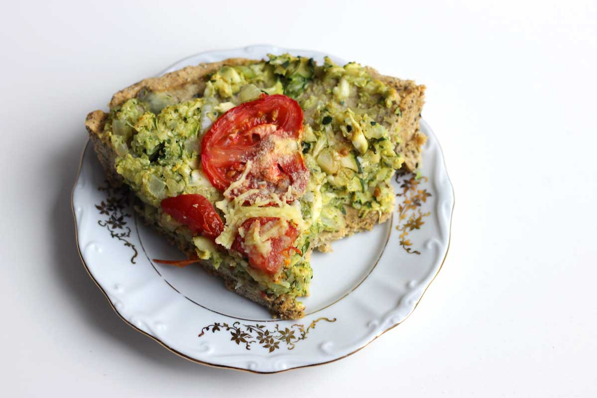 vegan italian quiche recipe, healthy, clean eating, veganistisch recept