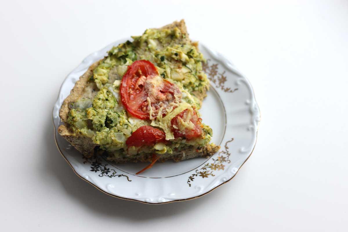 veganistische recepten lekker, gezond, gemakkelijk, italiaanse quiche, vegan