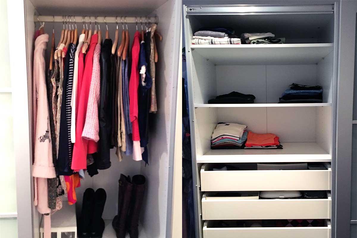 minimalist wardrobe, konmari