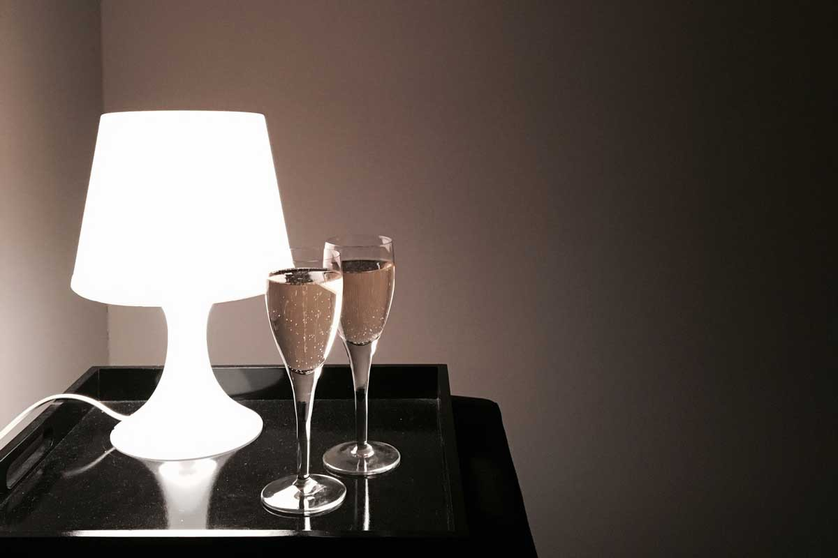 new years wine, champagne, minimalist photography