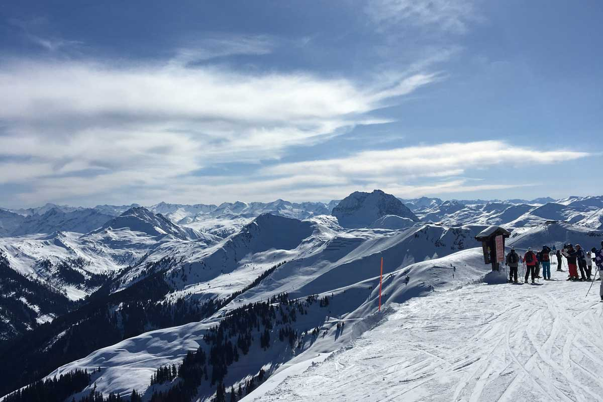 kaiserwetter kitzbuhel, uitzicht, mooi skigebied