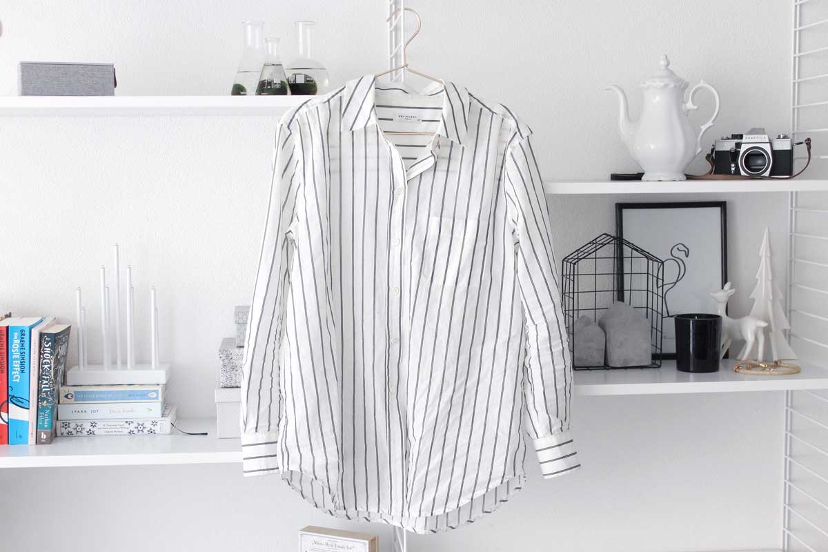 equipment kenton striped blouse, cotton, high quality, capsule wardrobe, currated closet