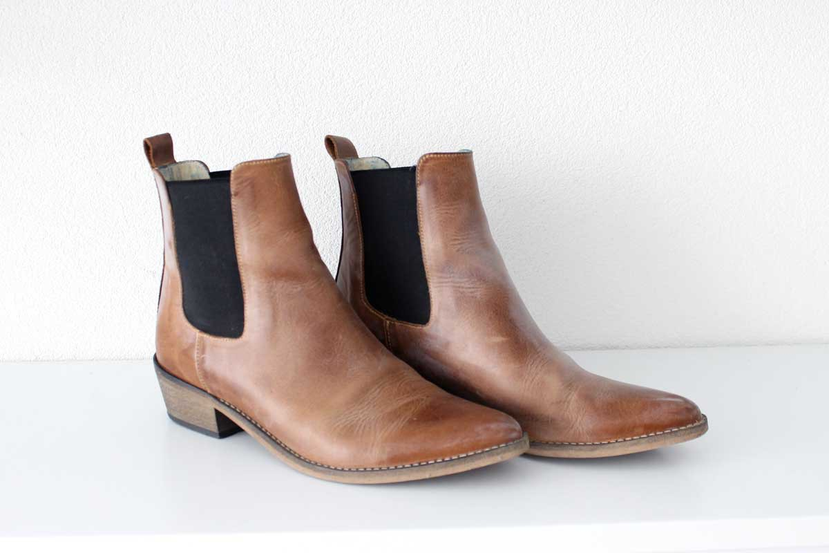 ivylee copenhogen leather boots, chelsea boots, panther print, quality, capsule wardrobe, the currated closet
