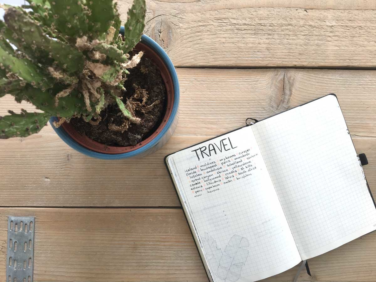 road trip trough iceland, travel bucket list bullet journal