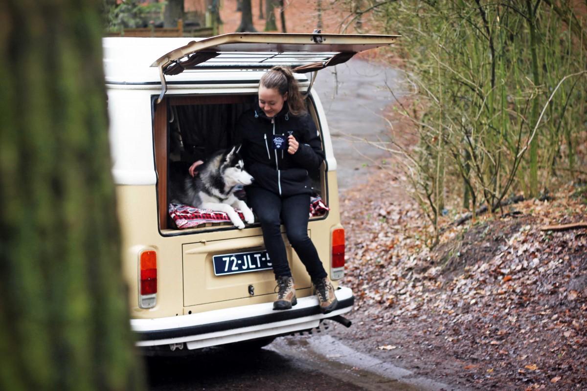 Volkswagen camperbusje t2 zandkleurig