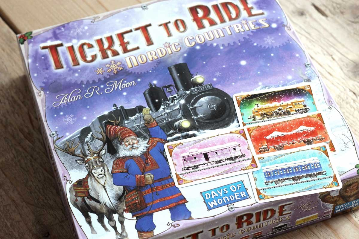 ticket to ride nordic countries, kersteditie, spelletjes voor in de kerstvakantie